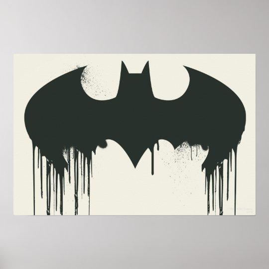 Batman Symbol | Spraypaint Logo Poster