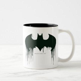 Batman Symbol | Spraypaint Logo Two-Tone Mug