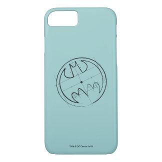 Batman Symbol | Technical Sketch Logo iPhone 8/7 Case