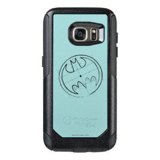 Batman Symbol   Technical Sketch Logo OtterBox Samsung Galaxy S7 Case