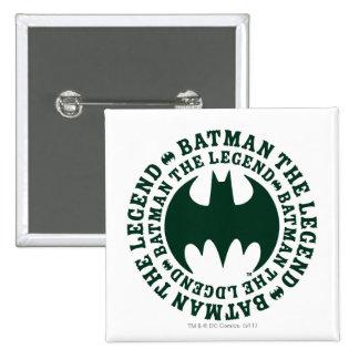 Batman Symbol | The Legend Logo 15 Cm Square Badge