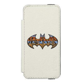 Batman Symbol | Urban Blue Brown Logo Incipio Watson™ iPhone 5 Wallet Case