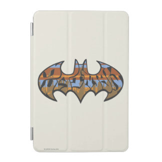 Batman Symbol | Urban Blue Brown Logo iPad Mini Cover