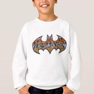 Batman Symbol   Urban Blue Brown Logo Sweatshirt