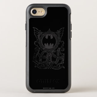 Batman Symbol | Urban Legends Black White Logo OtterBox Symmetry iPhone 8/7 Case