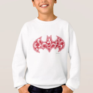 Batman Symbol | Urban Legends Red Waves Logo Sweatshirt