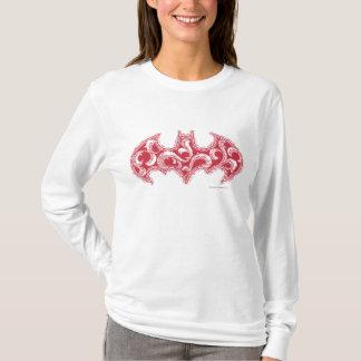 Batman Symbol   Urban Legends Red Waves Logo T-Shirt