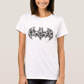 Batman Symbol   Urban Legends White Wave Logo T-Shirt