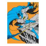 Batman Throws Batarang on Rooftop Postcard