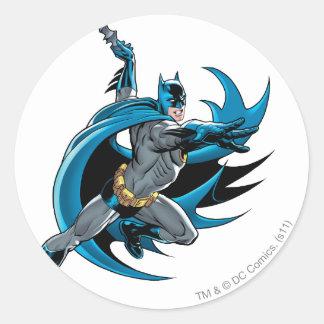 Batman Twists Classic Round Sticker
