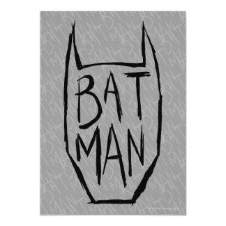 Batman Type in Head 13 Cm X 18 Cm Invitation Card