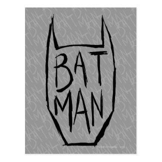 Batman Type in Head Postcard