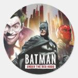 Batman Under The Red Hood Classic Round Sticker