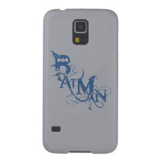Batman | Urban Curved Blue Name Logo Galaxy S5 Case