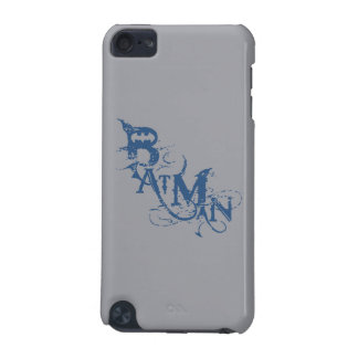 Batman | Urban Curved Blue Name Logo iPod Touch 5G Cases