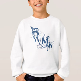 Batman | Urban Curved Blue Name Logo Sweatshirt