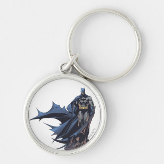 Batman Urban Legends - 10 Silver-Colored Round Key Ring