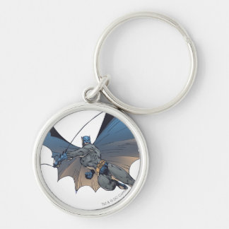 Batman Urban Legends - 3 Silver-Colored Round Key Ring