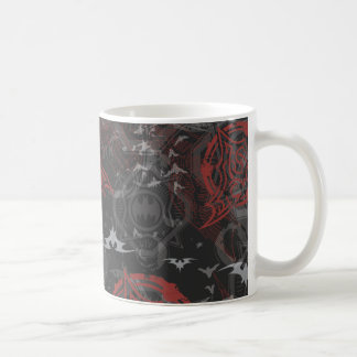 Batman Urban Legends - Bat Stamp Pattern Black/Red Coffee Mug