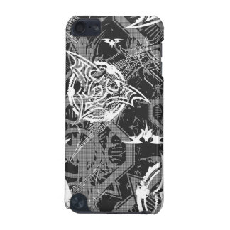 Batman Urban Legends - Bat Stamp Pattern BW iPod Touch (5th Generation) Cover