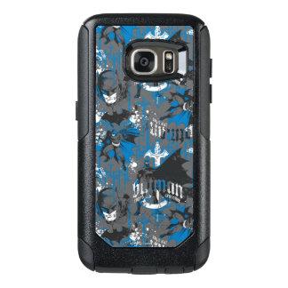 Batman Urban Legends - Caped Crusader Pattern Blue OtterBox Samsung Galaxy S7 Case