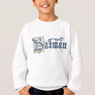 Batman   Urban Legends Capital B Yellow Logo Sweatshirt