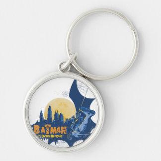 Batman Urban Legends - Dark Knight Cityscape Silver-Colored Round Key Ring