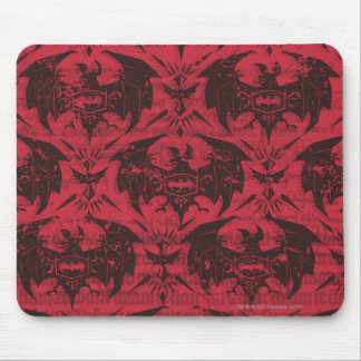Batman Urban Legends - Goth Bat Pattern Red/Black Mouse Mat