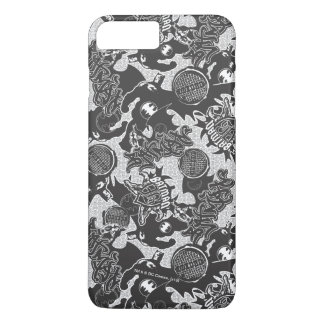 Batman Urban Legends - Graffiti Textile Pattern BW iPhone 8 Plus/7 Plus Case