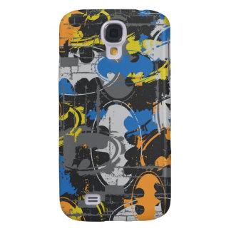 Batman Urban Legends - Grunge Logo Blue/Orange Galaxy S4 Case