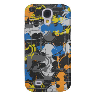 Batman Urban Legends - Grunge Logo Blue/Orange Galaxy S4 Case