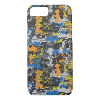 Batman Urban Legends - Grunge Logo Blue/Orange iPhone 8/7 Case