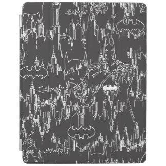 Batman Urban Legends - Line Art Pattern BW iPad Cover