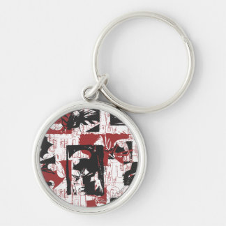 Batman Urban Legends - Mask & Fist Stamp Red Key Ring