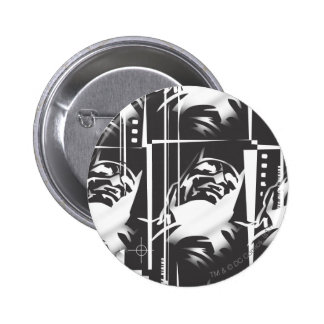 Batman Urban Legends - Mask Grid Pattern BW 6 Cm Round Badge