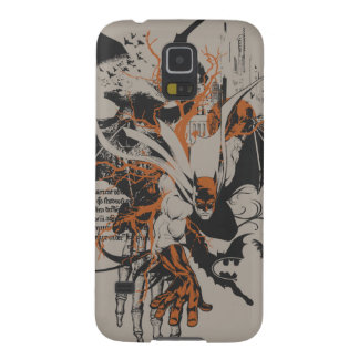 Batman Urban Legends - Orange Batman on Skeleton Galaxy S5 Cases