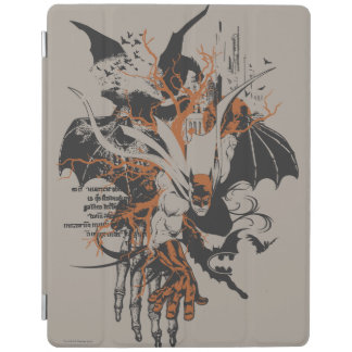 Batman Urban Legends - Orange Batman on Skeleton iPad Cover