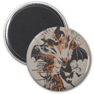 Batman Urban Legends - Orange Batman on Skeleton Magnet