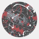 Batman Urban Legends - Paint Splatter Logo Pattern Round Sticker