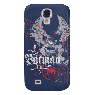 Batman Urban Legends - Wings Red on Blue Galaxy S4 Case