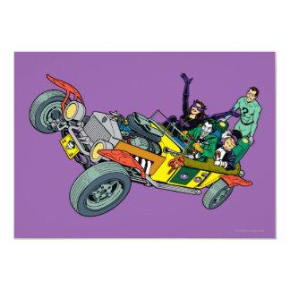 Batman Villains In Jokermobile 13 Cm X 18 Cm Invitation Card