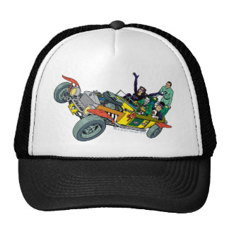 Batman Villains In Jokermobile Cap