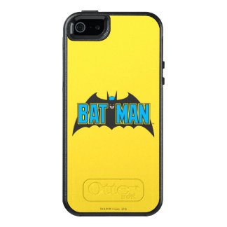 Batman | Vintage Blue Black Logo OtterBox iPhone 5/5s/SE Case