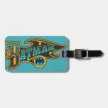 Batman | Vintage Turquoise Logo Luggage Tag