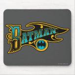 Batman | Vintage Turquoise Logo Mouse Pad