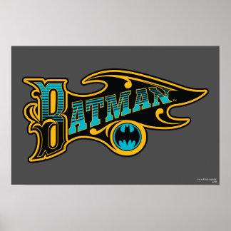 Batman | Vintage Turquoise Logo Poster