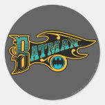 Batman | Vintage Turquoise Logo Round Sticker