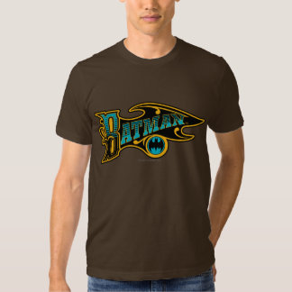 Batman | Vintage Turquoise Logo T Shirt
