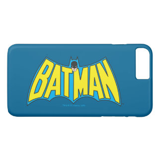 Batman | Vintage Yellow Blue Logo 2 iPhone 8 Plus/7 Plus Case