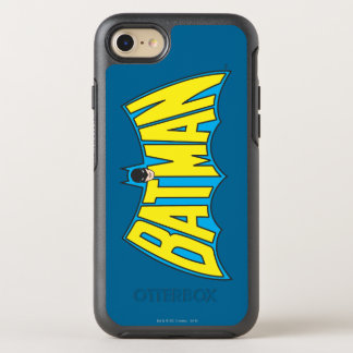 Batman | Vintage Yellow Blue Logo 2 OtterBox Symmetry iPhone 8/7 Case